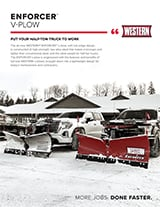 Western ENFORCER V-Plow Sell Sheet