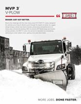 """Western MVP 3™ 10' 6"""" V-Plow Sell Sheet"""