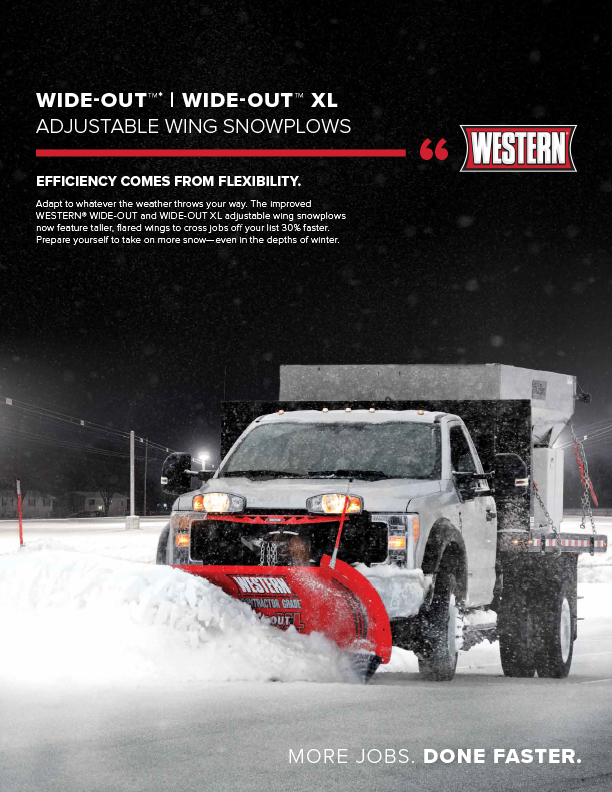 """Western WIDE-OUT™ AND WIDE-OUT™ XL 10' 6"""" V-Plow Sell Sheet"""